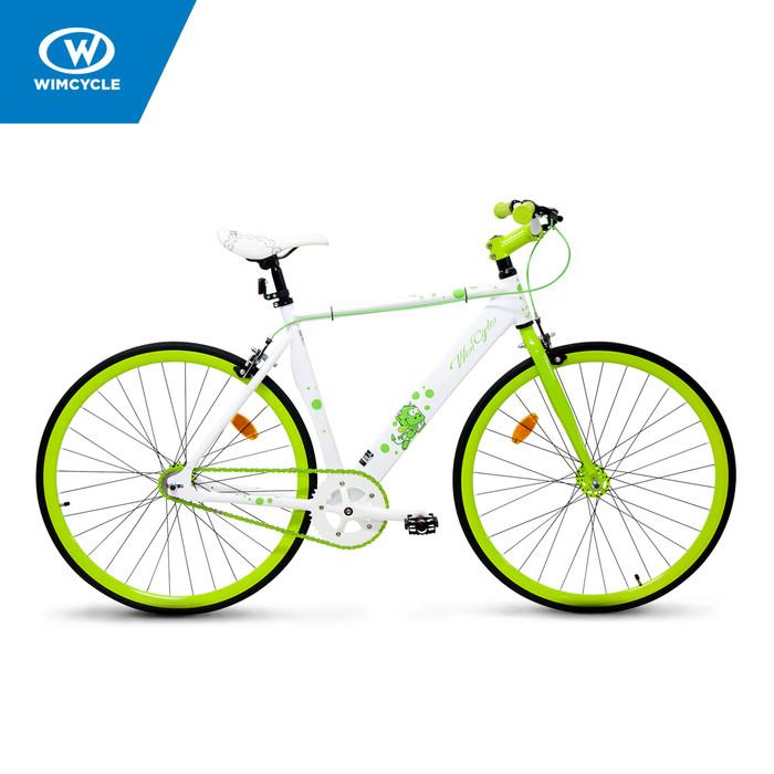 harga Sepeda wimcycle 26 inch fixie alloy super white Tokopedia.com