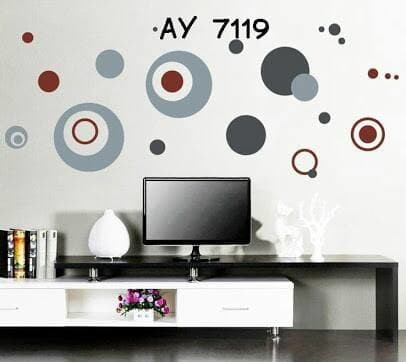 AY7119 : wall sticker/wall stiker transparan 50x70--circle fifth gen