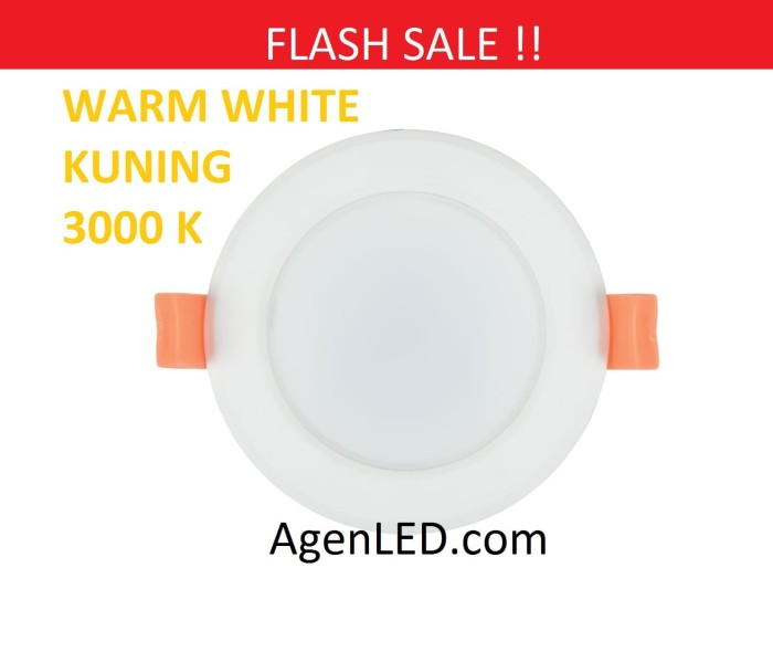 Foto Produk Lampu Downlight LED Panel Lamp 3W KUNING 3 w watt 3watt WARM WHITE dari AgenLED
