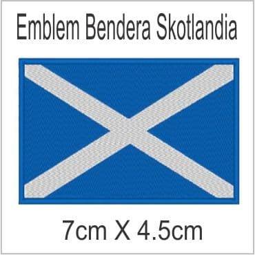 Scotlandia Emblem Bordir Badge - Blanja.com