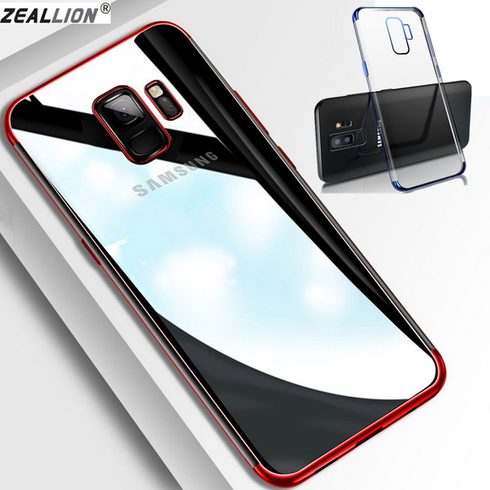 Foto Produk TPU PLATING case Samsung J4 2018 softcase casing back cover ultra thin - Black dari Jakey Online Shop