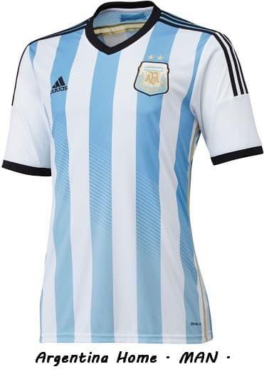 Foto Produk jersey bola man GRADE ORI Argentina Home World Cup 2014 READY STOCK dari koleksi baju couple