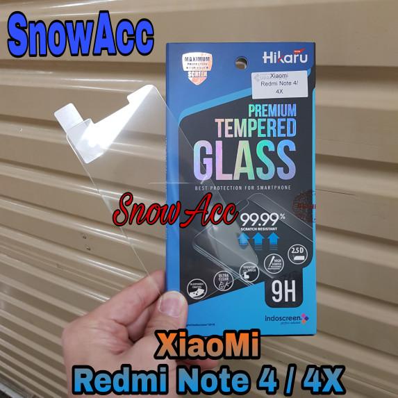Foto Produk TEMPERED GLASS INDOSCREEN HIKARU REDMI NOTE 4/ 4X anti gores kaca dari SnowAcc