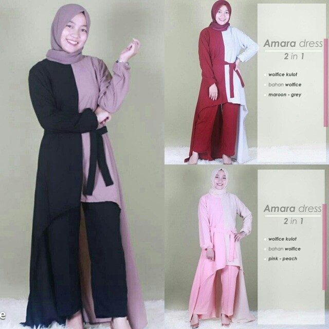 Jual Baju setelan wanita hijab grosir pakaian muslim murah Amanda ... 9f387ae203
