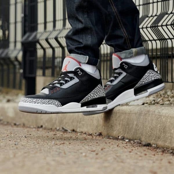 new concept 67f4f c8fc4 Jual Nike Jordan Retro 3 OG Black Cement - Mirror Quality - DKI Jakarta -  SneakersHQ | Tokopedia