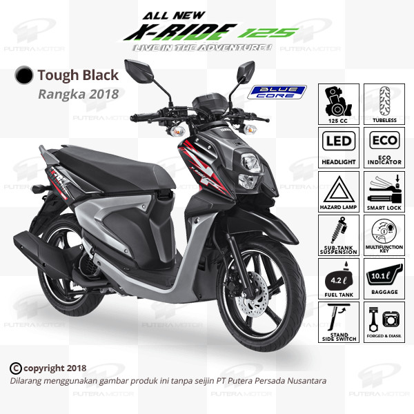 Jual Yamaha X Ride 125 Black Otr Jabodetabek Banten Yamaha