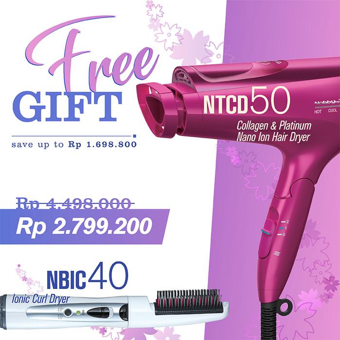 Jual TESCOM PLATINUM   COLLAGEN NANO HAIRDRYER NTCD50 FREE NBIC 40 - TESCOM  INDONESIA - OS  dd7f9455f3