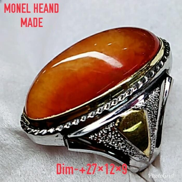 harga Natural batu pandan merah/ cincin mewah monel heand made pesanan Tokopedia.com