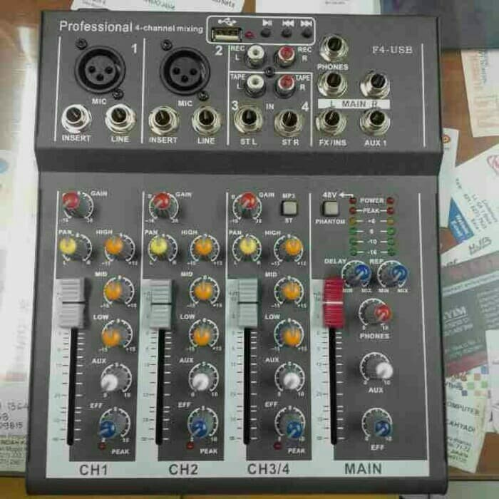 harga Mixer audio 4channel f4 Tokopedia.com