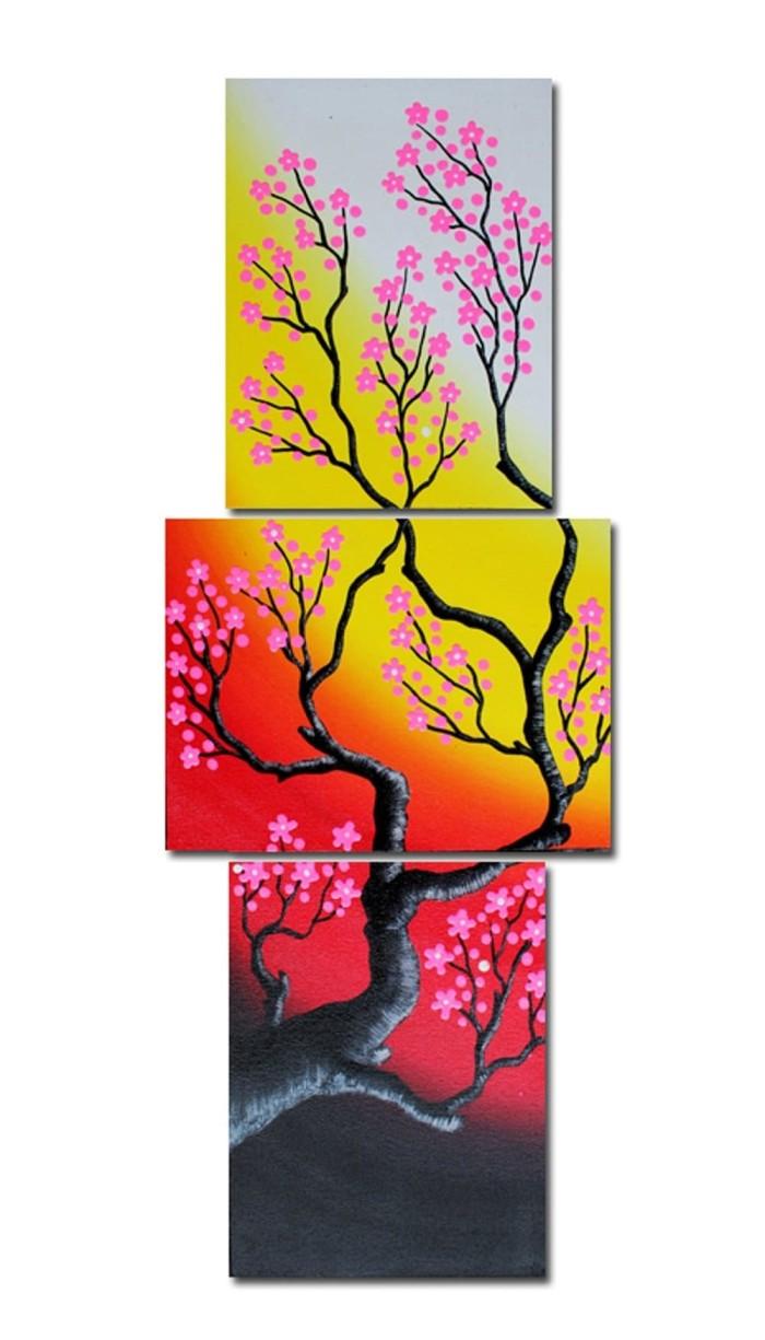 Jual BESTSELLER LUKISAN PREMIUM Vertikal Bunga Dekoratif Sakura Hiasan Rum Jakarta Pusat Indo Inc