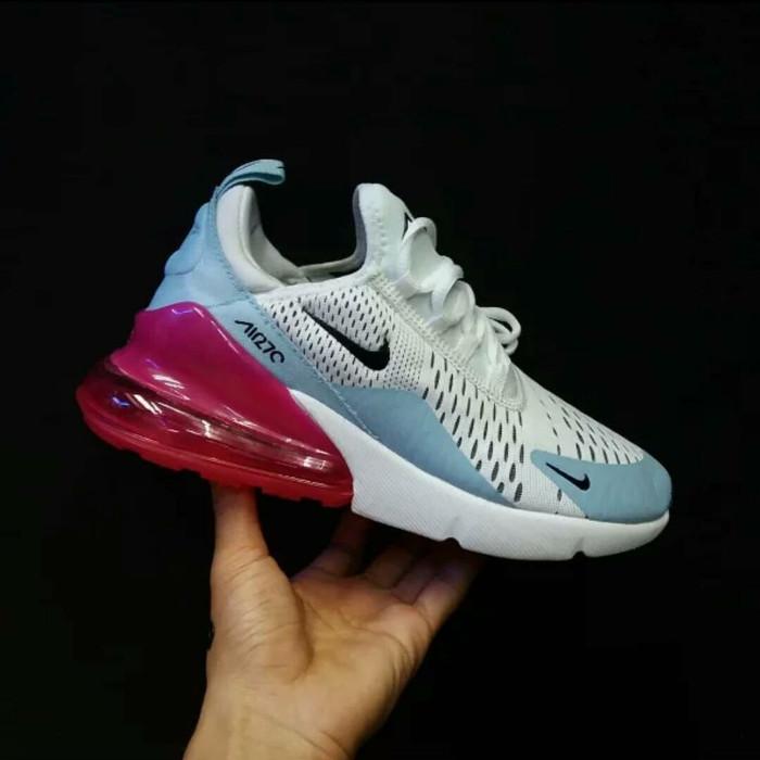 Jual Sepatu Sneakers Nike Airmax 270 White Blue Pink Women Premium Original DKI Jakarta ridoshop9   Tokopedia