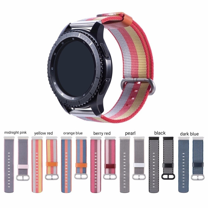 harga 22mm nylon strap band for samsung gear s3 asus zenwatch fossil Tokopedia.com