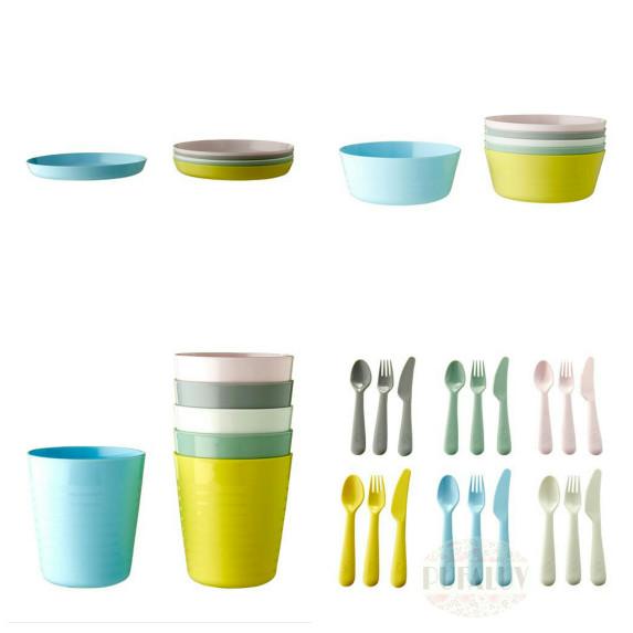 harga Kalas perlengkapan makan anak set isi 36 - aneka warna pastel Tokopedia.com