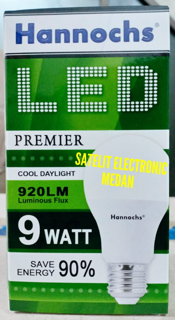 Lampu LED Hannochs Premier 9 W / 9 Watt - Bergaransi ( Hemat Listrik ) - Putih