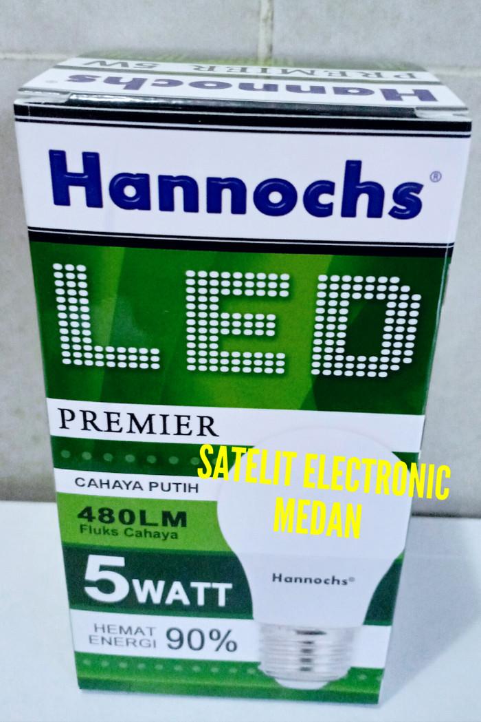 Lampu LED Hannochs Premier 5 W / 5 Watt - Bergaransi ( Hemat Listrik ) - Putih