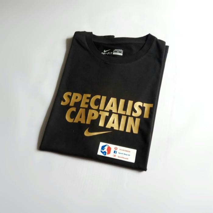 bce78137 Kaos Baju Tshirt T-Shirt Nike Custom Specialist Captain - Black / Gold -  Merah, M