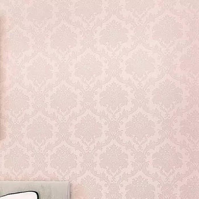 Jual Wallpaper Dinding Uk 45cmx10m Kode 2377 Polos Pink Motif