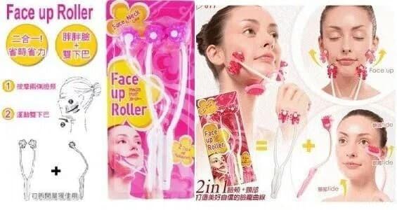 Alat pijat wajah / flower face up roller