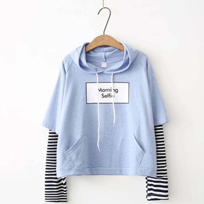 Jual jaket wanita sweater wanita kardigan bomber baju murah Morning ... 4a39c65ade