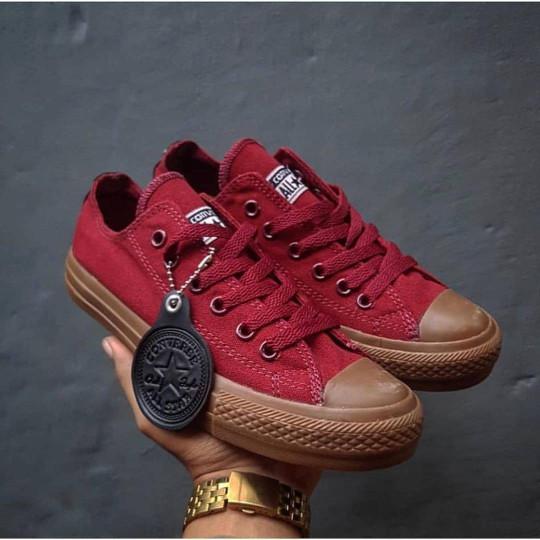 ... harga Converse ct ii sole gum   sepatu pria wanita santai jalan-jalan  maron Tokopedia e62bf55a70