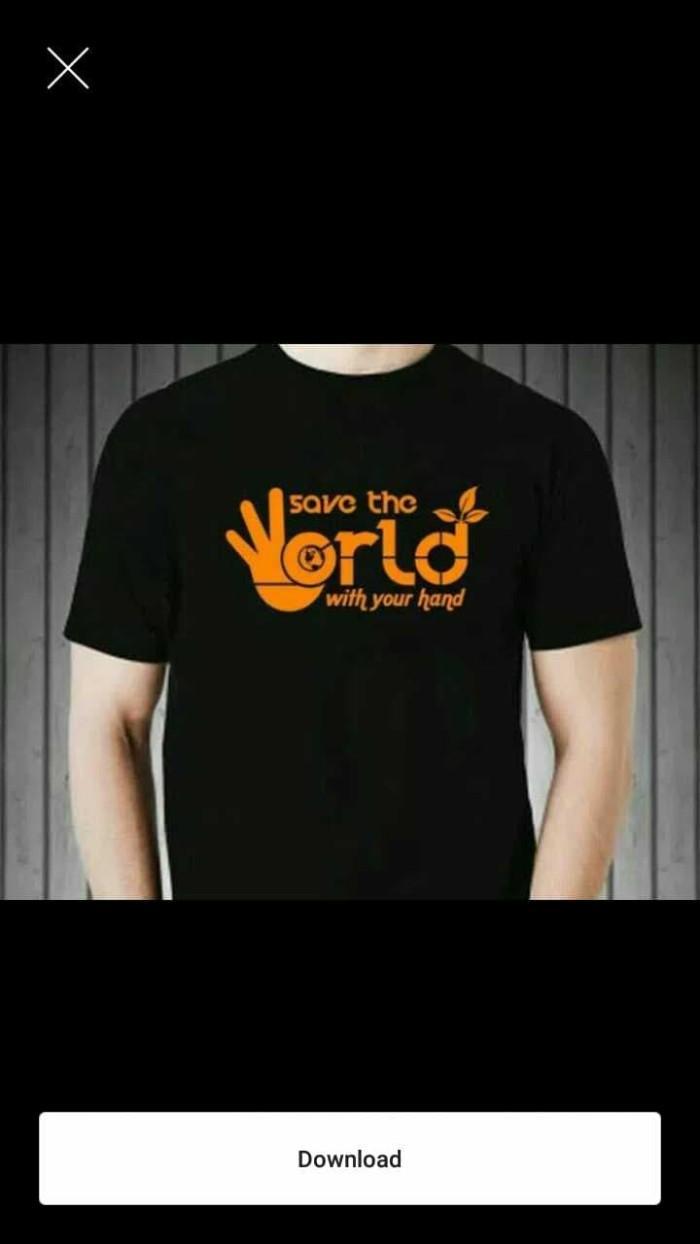 Jual Tshirt Baju Kaos SAVE THE WORLD Keren Kota Bekasi Anma Srore