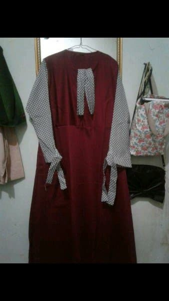 Jual Mariana Polka Merah - Dress Syari Wanita - Baju Gamis Wanita ... 145efe487f
