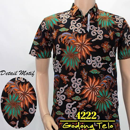 ... Batik Pekalongan Solo Kemeja Hem Batik Pria Diwei Batik Series 4220 Ungu M
