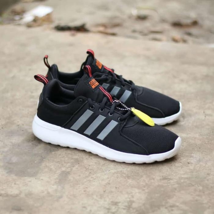 Sepatu Adidas Cloudfoam Lite Racer Black List Grey Original   Sneakers -  Hitam 9a941d0c4c