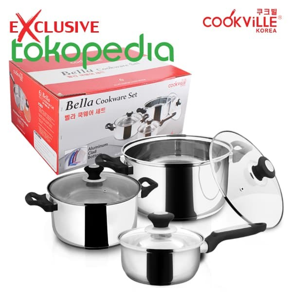 bella cookware set - 6 pcs