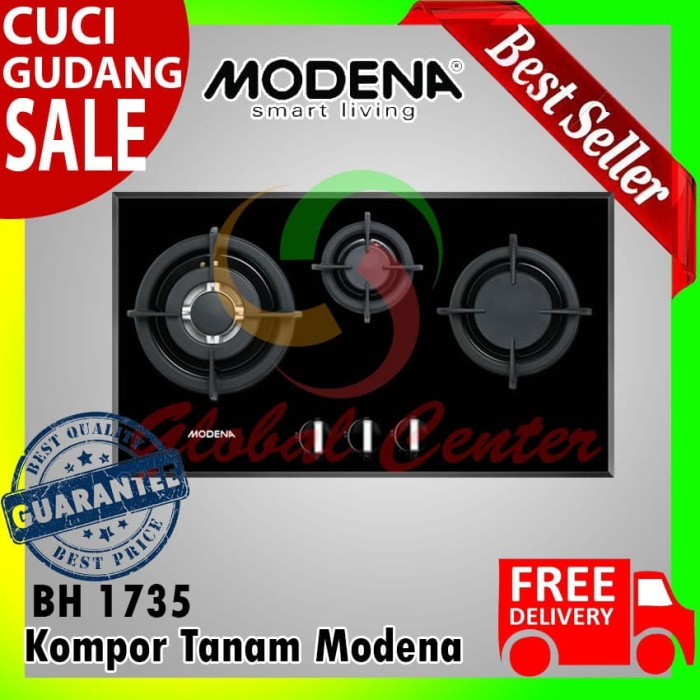 Jual Kompor Tanam Modena Built In Hob Gas 70 Cm 3 Tungku Bh 1735 Jakarta Barat Global Home Center Tokopedia