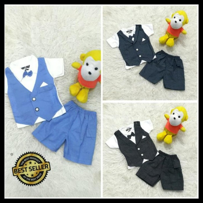 Baju Bayi Setelan Jas/Tuxedo Pesta/Kondangan Anak Laki-Laki Cowok