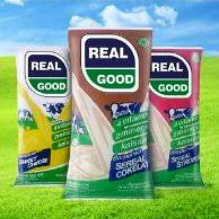 Foto Produk Susu UHT Real Good - 55 ml - Susu Bantal Kemasan Praktis dan Ekonomis - Sereal Coklat dari 3F Retail