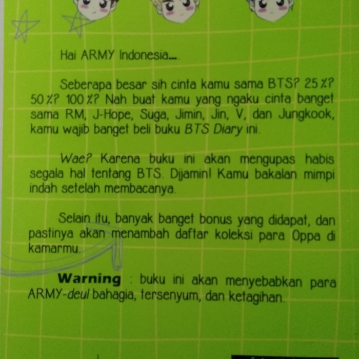 Jual PO BTS Diary - Kab  Bekasi - Cintabuku Books | Tokopedia