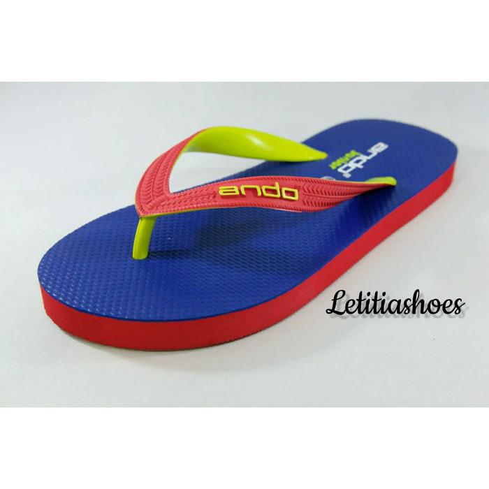 harga Sandal jepit anak pria junior ando hawai fashion 02 ab rblue/red Tokopedia.com