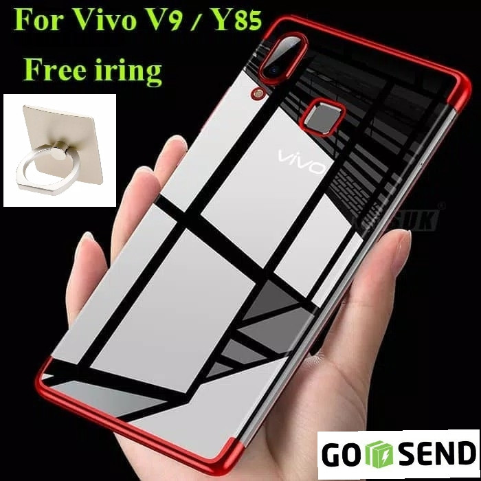 Foto Produk Case Vivo V9 soft casing back cover transparant ultra thin TPU PLATING dari Jakey Online Shop
