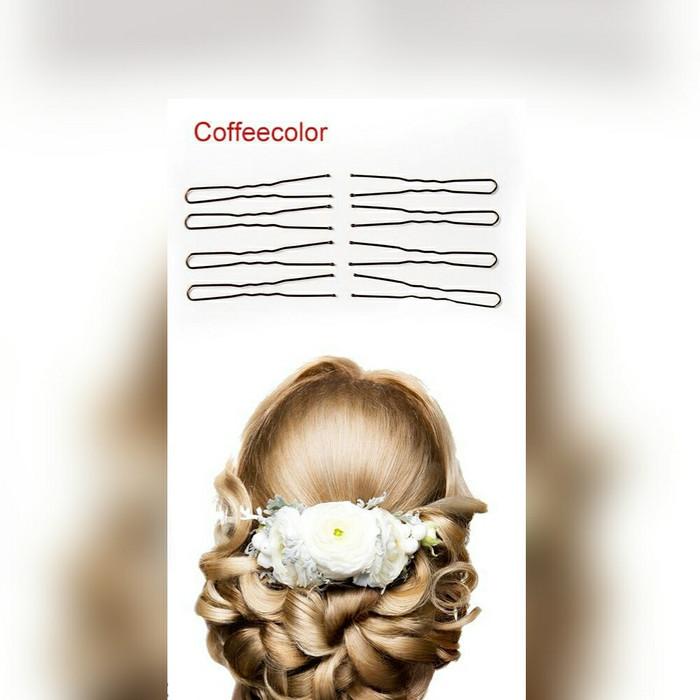 Foto Produk 20pcs Hair pin coklat / hair pins / bobby pin U / hairpin / hair clip dari supermurah88