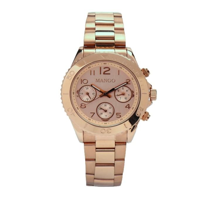 mango jam tangan wanita ma6691l-13r rose gold