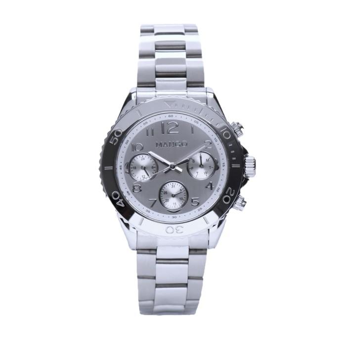 mango jam tangan wanita ma6691l-80 silver