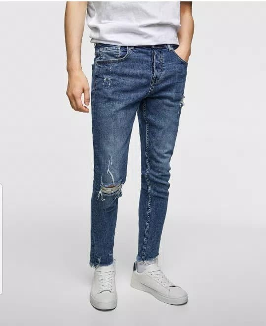 harga Celana jeans skinny ripped zara man authentic Tokopedia.com