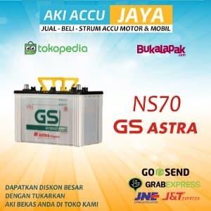 Aki Accu Mobil NS70 Hybrid Basah GS Astra Limited