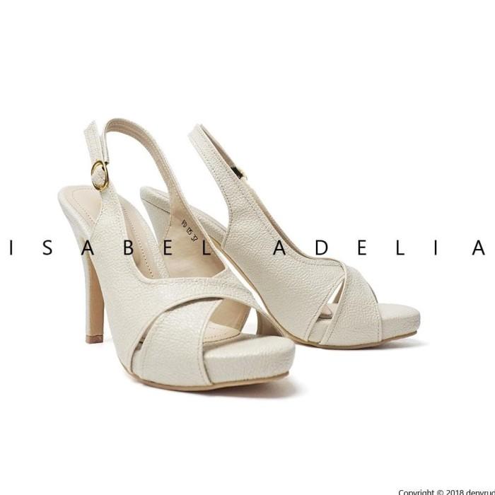 Best Isabel Brenda Sepatu Wanita Hak Tinggi Slingback Heels Import - Hitam, 37