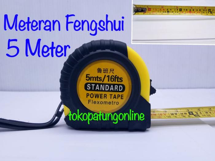 Foto Produk Meteran Fengshui 5 Meter Import Besar dari tokopatungonline