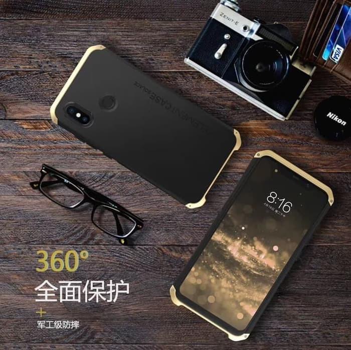 Foto Produk Xiaomi Redmi Note 5 5 Pro ELEMENT SOLACE case full cover casing metal - Red Gold dari Jakey Online Shop