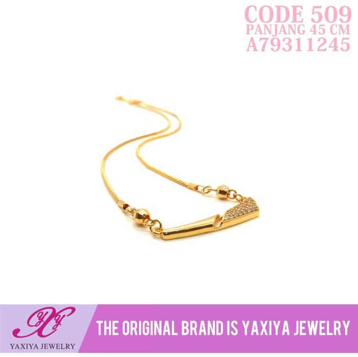Kalung Koye Permata Lapis emas Perhiasan imitasi Yaxiya Jewelry 509