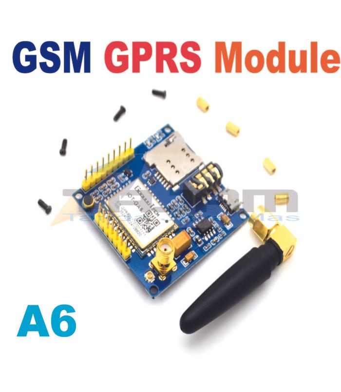 Jual A6 GPRS Pro Serial GPRS GSM Module Core DIY Dev Board TTL RS232+Antena  - Kota Medan - Tanda Jaya Mas | Tokopedia