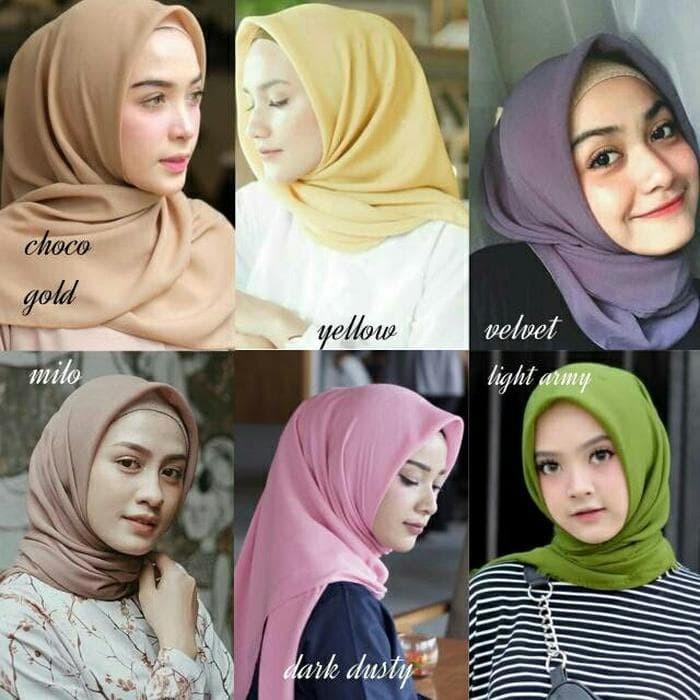 Jual Bella Square Kerudung Potton Hijab Segi Empat Double