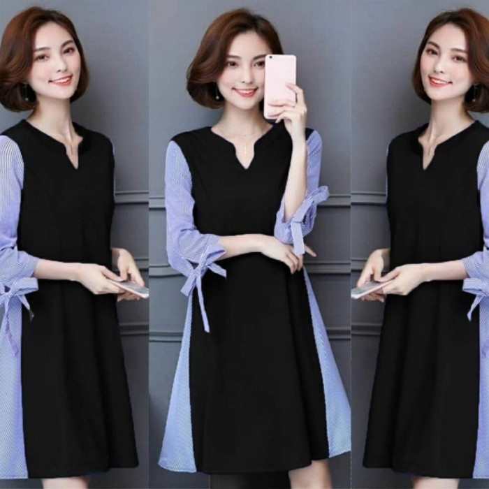 Jual Ai Sonata Pakaian Wanita Dress Casual Setelan Baju Kantor