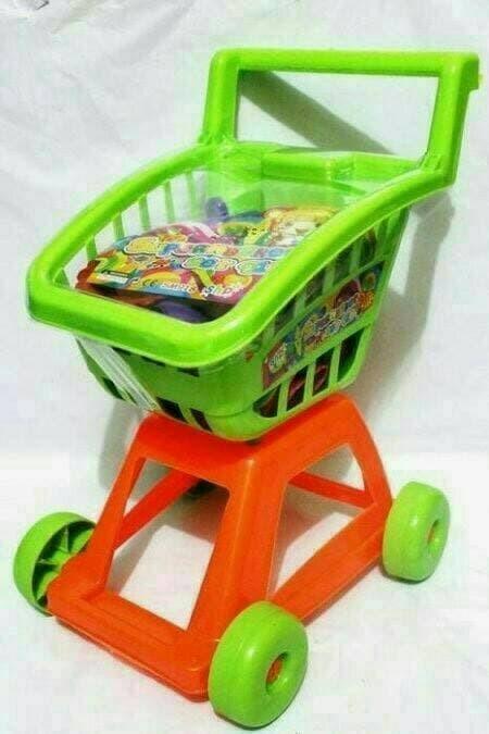 harga Mainan keranjang trolley jumbo roda trolly troly lengkap masak masakan Tokopedia.com