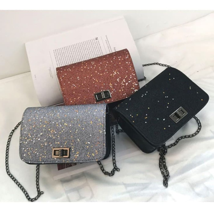 0206d2661ab RAB TWK1002 SHOULDER BAG / TAS GLITTER / TAS IMPORT / TAS FASHION - Merah
