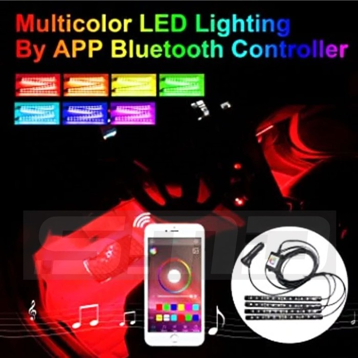 harga Lampu led kolong / kabin / dashboard rgb atmosphere pake hp android Tokopedia.com